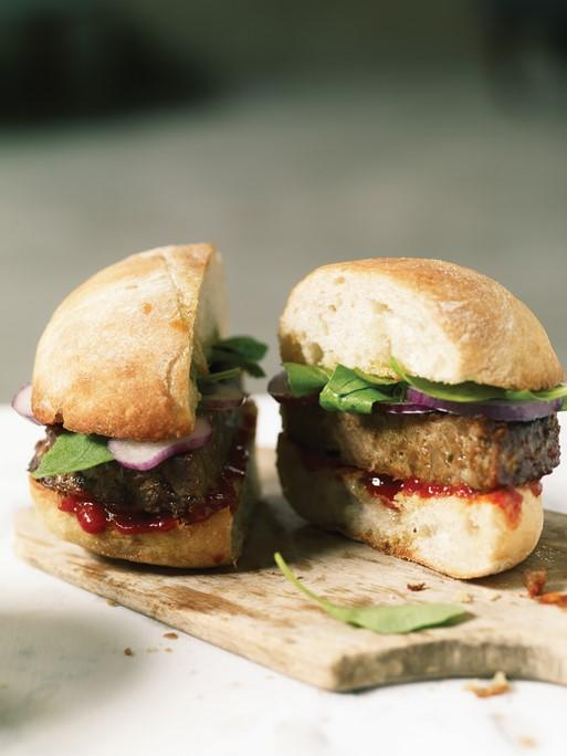 Plant-Based Meat Alternative Burgers