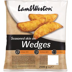 Seasoned Jacket Wedges 2.5KG (Ovenable)