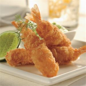 Raw Panko Coated Prawns