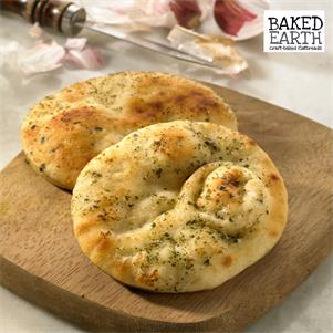 Mini Round Garlic & Coriander Naan Bread