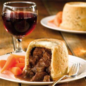Steam Baked Steak & Kidney Suet Pudding