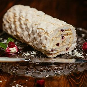White Chocolate & Raspberry Roulades